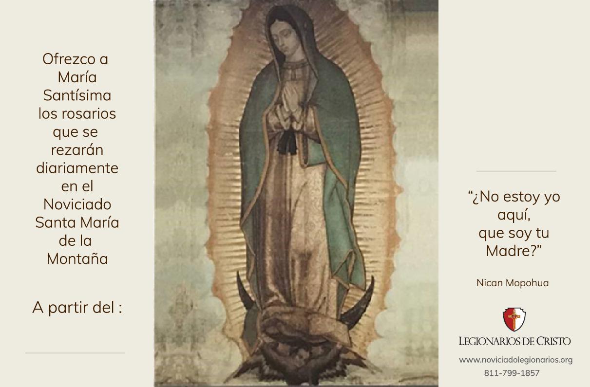 tarjeta del rosario